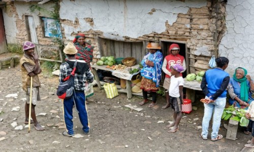 Zdjecie MADAGASKAR / Fianarantsoa-Manakara / gdzieś na trasie pociągu / Stragan