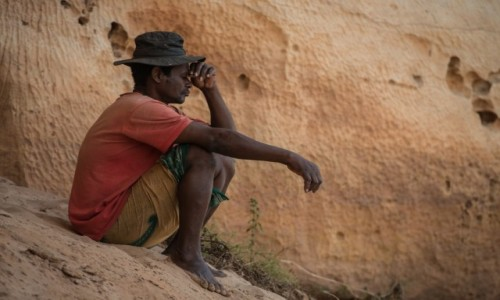 MADAGASKAR / Północny Zachód / Parc National des Tsingy de Bemaraha / Siedzone i dumane 😁