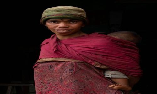 MADAGASKAR / Betafo / Betafo / Kobieta z dzieckiem