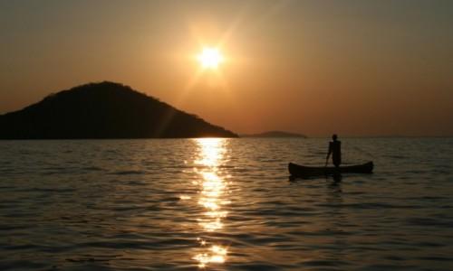 Zdjęcie MALAWI / Cape Maclear / wyspa Thumbi West / zachód na jeziorze Malawi