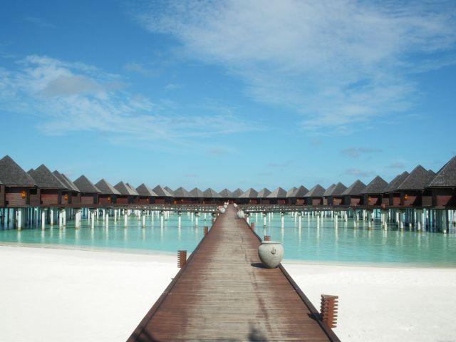 Zdjęcia: Olhuveli Island, Domki na wodzie, MALEDIWY