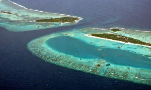 Zdj�cie MALEDIWY / - / w drodze do Vavvaru / Widok na atole