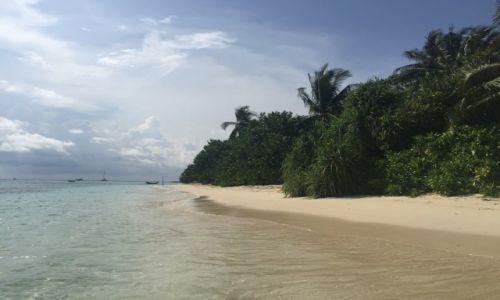 Zdjęcie MALEDIWY / Atol Seenu / Hithadhoo / Rajska plaża