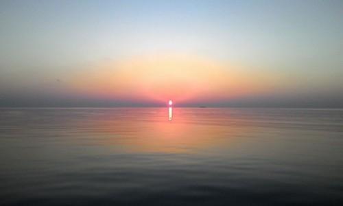 Zdjecie MALEDIWY / Ocean Indyjski / Hilhmandhoo / sunset