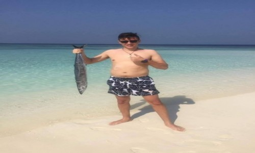 Zdjecie MALEDIWY / Ocean Indyjski / Hilmandhoo / Taaaka ryba:)