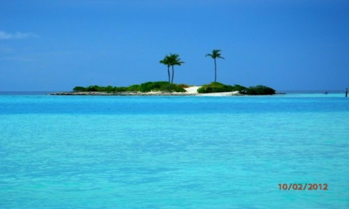 Zdjecie MALEDIWY / Atol Kaafu / Paradise Island / Samotna wysepka