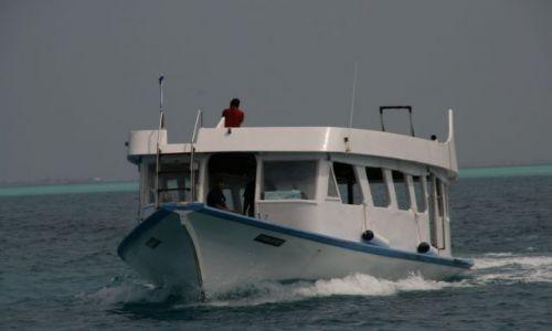 Zdjęcie MALEDIWY / Male / Basen portowy / Wodna taksowka