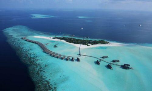 Zdjecie MALEDIWY / brak / Wyspa kakaowa / Wyspa z lotu ptaka
