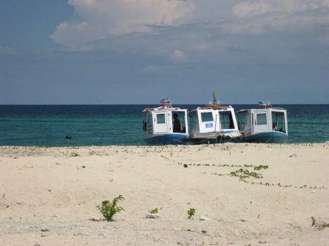 Zdjęcia: Ocean, Borneo, Łodzie na wyspie, MALEZJA
