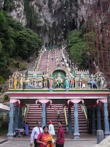 Zdj�cia: Kuala Lumpur, Batu Caves, hinduska �wi�tynia w jaskini, MALEZJA