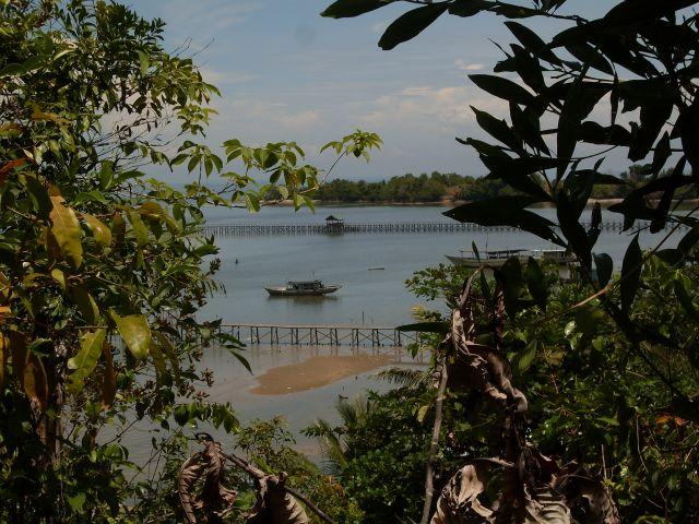 Zdjęcia: Borneo-Berhala, Sabah, ... pomosty...., MALEZJA