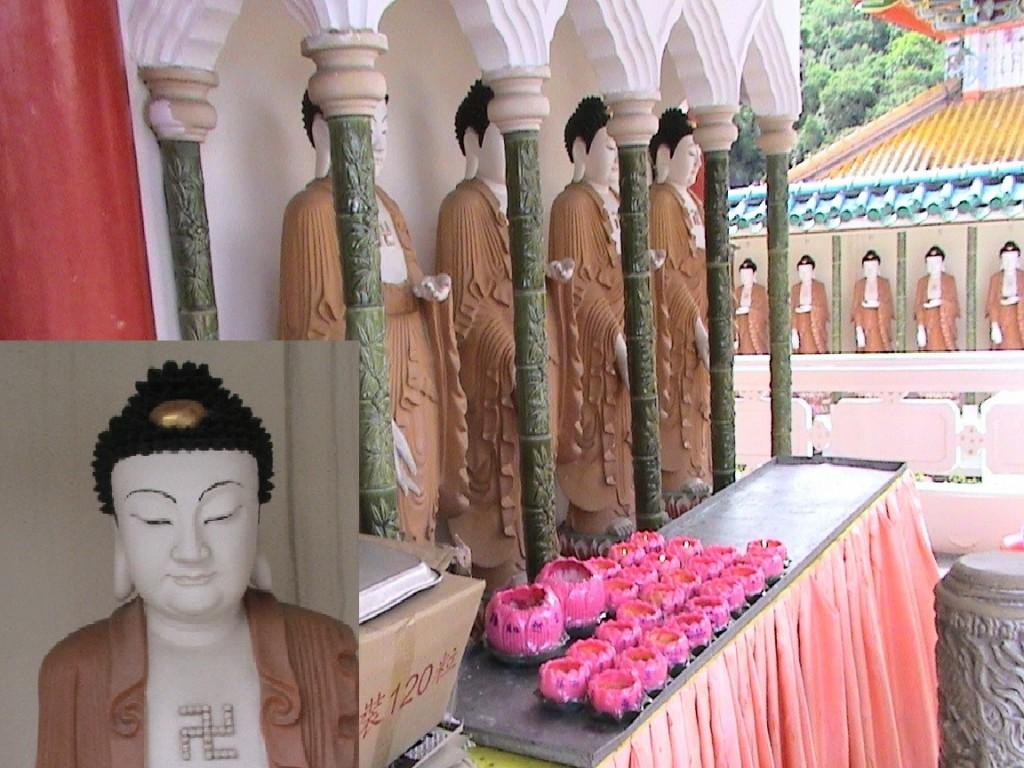 Zdj�cia: Penang, Swastyka - znak buddyzmu, MALEZJA