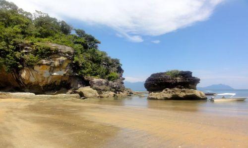 MALEZJA / Borneo / Bako National Park / zatoczka...
