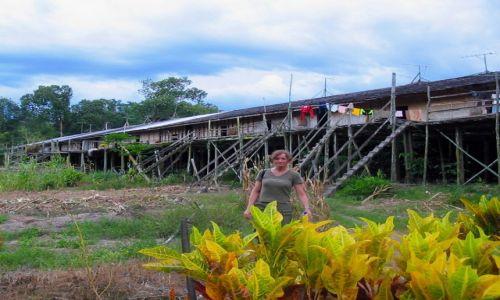 Zdjecie MALEZJA / Borneo / Sarawak / Długie domy potomków łowców głów