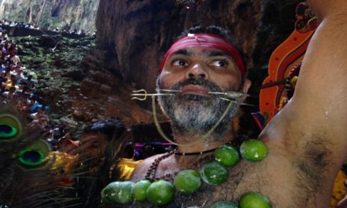 Zdjecie MALEZJA / kuala Lumpur / Jaskinie Batu caves / Swieto Thaipusam