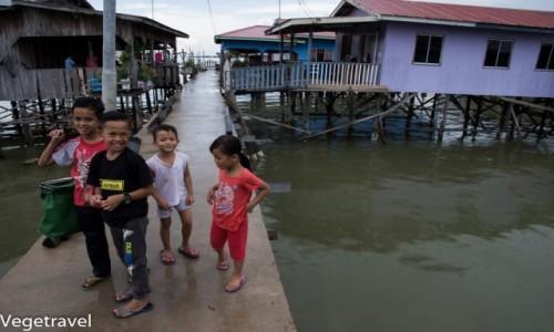 Zdjęcie MALEZJA / Sabah / Sandakan / Sandakan - Water Village