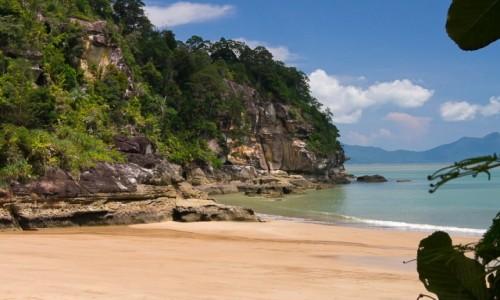 Zdjecie MALEZJA / Borneo / NP Bako, Pulau Kecil / Na rajskiej, bezludnej plaży