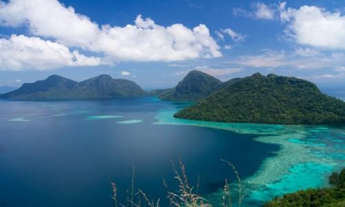 MALEZJA / Borneo / archipelag Semporna / Rajski widok