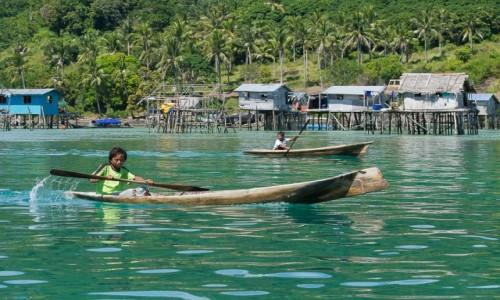 Zdjęcie MALEZJA / Borneo / Archipelag Semporna, Bodgaya / Dzieciaki