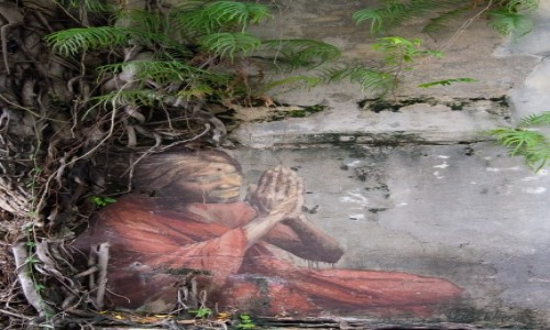 MALEZJA / Penang / Georgetown / Modląca się