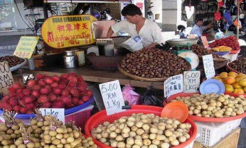 Zdjecie MALEZJA / brak / Georgetown, Penang / Sprzedawca owoców