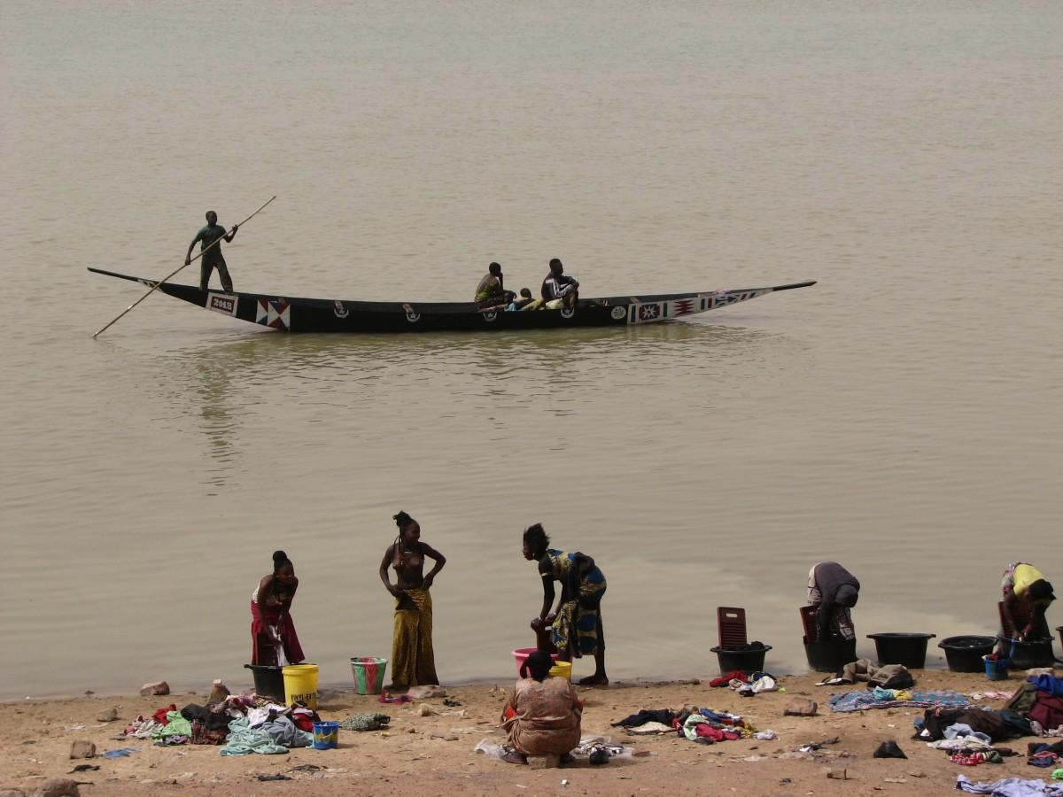 Zdjęcia: MOPTI, nad rzeka, MALI