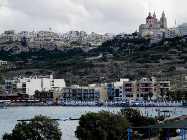Zdjęcia: miasteczko Mellieha, Polnoc Malty, Malta-Mellieha, MALTA