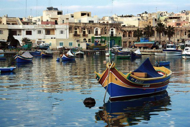 Zdjęcia: Marsaxlokk, wschodnie wybrzeże, Luzzu, MALTA
