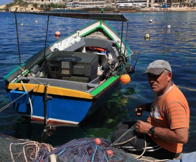 Zdjęcia: Marsalforn, Gozo, Przed połowem, MALTA