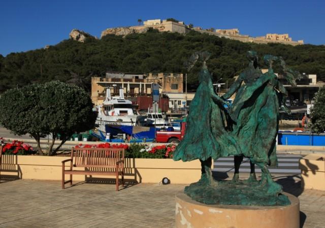 Zdjęcia: Terminal promowy w Ghajnsielem, Gozo , Fort Chambray, MALTA