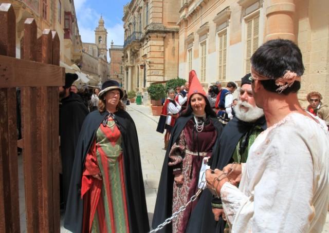 Zdjęcia:  Mdina, Malta centralna, Średniowieczne scenki, MALTA