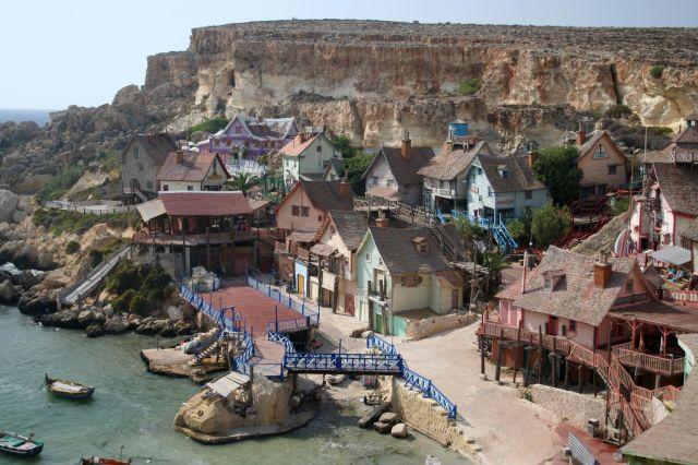Zdj�cia: Anchor Bay, Malta, Popeye Village, MALTA