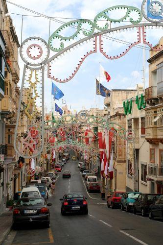 Zdjęcia: Senglea, Malta, Kolorowa ulica, MALTA
