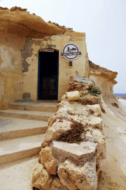 Zdjęcia: Xwejni, Gozo, Sklepik z solą morską, MALTA