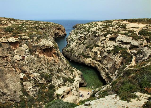 Zdjęcia: Wied il-Ghasri , Gozo, Cuda natury, MALTA