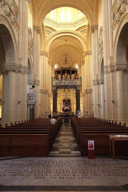 Zdjęcia: Għarb , Gozo, Bazylika Ta' Pinu, wnętrze, MALTA