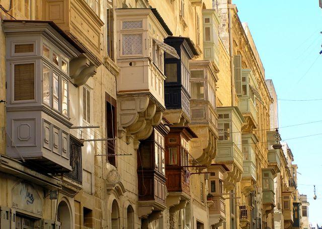 Zdjęcia: La Valetta, stolica, balkony, MALTA