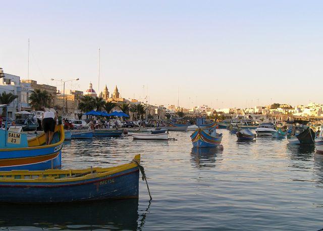 Zdjęcia: Marsaxlokk, malta, rybacki port1, MALTA