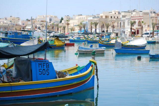 Zdjęcia: niezwykle malownicza rybacka miejscowaść, Marsaxlokk, w porcie rybackim, MALTA