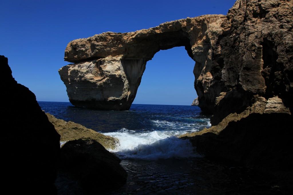 Zdjęcia: Lazurowe okno, Gozo, Niebiesko-białe, MALTA