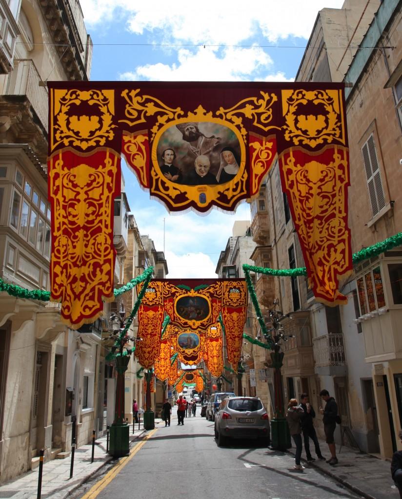 Zdjęcia: Floriana, Valletta , Świąteczne dekoracje, MALTA