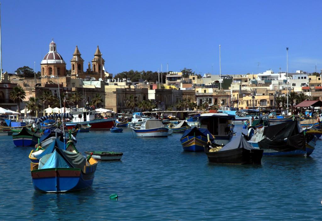Zdjęcia: Port rybacki, Marsaxlokk, Łodzie, MALTA