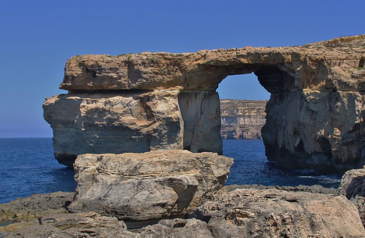 Zdjęcia: Azure Window, Gozo, Zostały tylko zdjęcia..., MALTA
