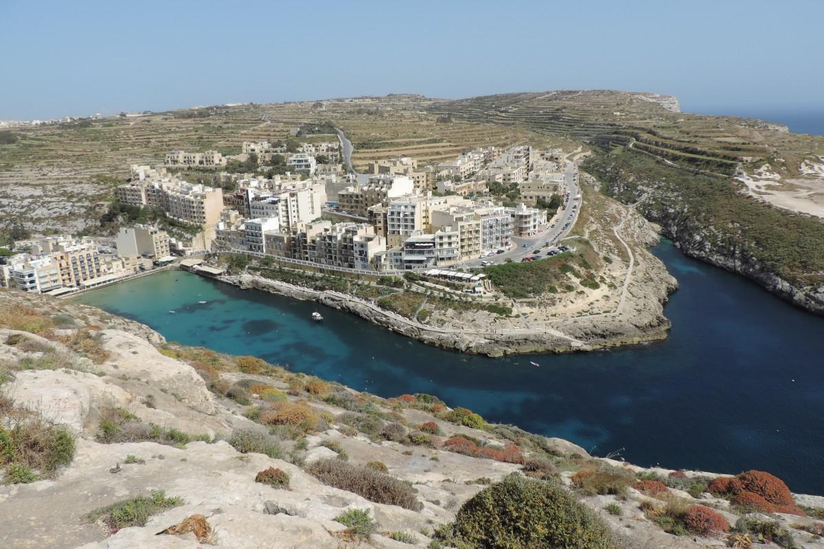 Zdjęcia: Xlendi Bay, Gozo, Xlendi Bay z góry, MALTA