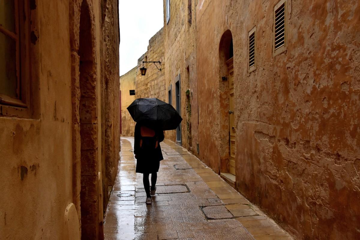 Zdjęcia: Mdina, środkowa Malta , Deszczowy dzień w Mdinie, MALTA