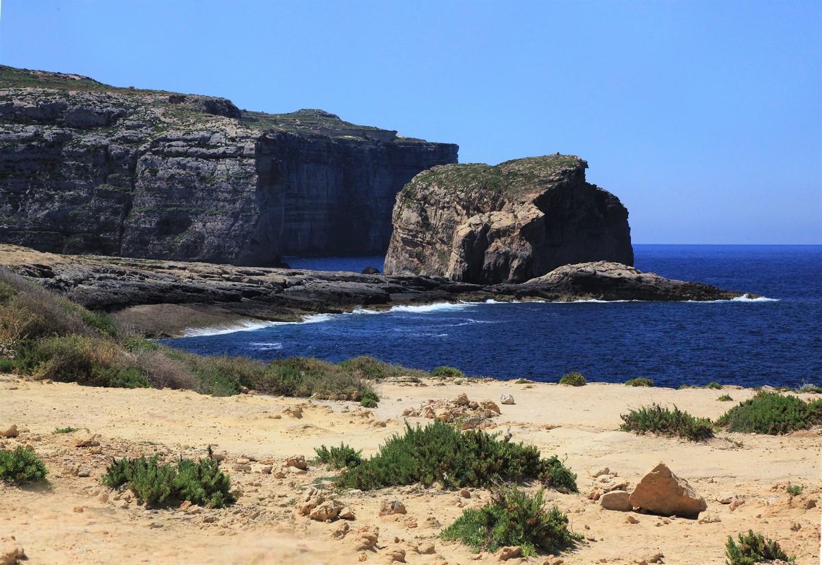 Zdjęcia: Dwejra, Gozo, Brzeg, MALTA