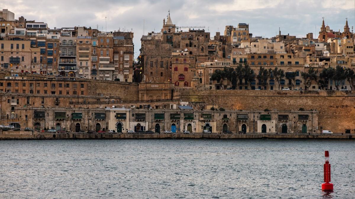 Zdjęcia: La Valletta, Malta, Zmierzch nad La Valletta, MALTA