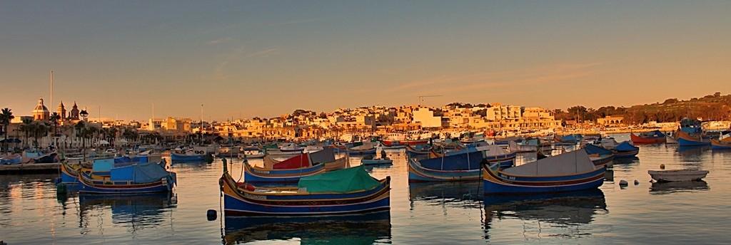 Zdjęcia: Marsaxlokk, Wieczór w porcie, MALTA