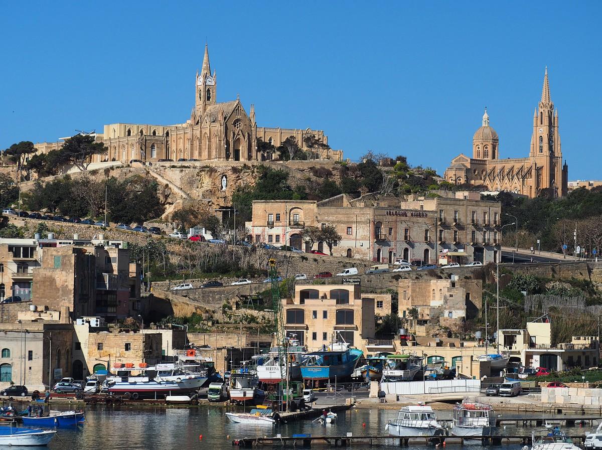 Zdjęcia: Gozo, Malta, Dopływając na Gozo, MALTA