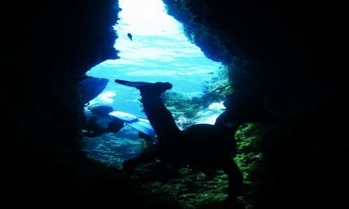 MALTA / - / Gozo / Podwodne jaskinie